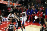 DeAndre Jordan slams home two of his 20 points against the Spurs in Game 2 of the first round NBA playoffs. Photo Credit: Dennis J. Freeman/News4usonline.com