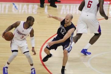 Chris Paul's 15 points an 14 assists were enough to keep Memphis Grizzlies defenders off-balanced all night. Photo Credit: Dennis J. Freeman/News4usonline.com
