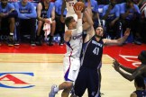 Going strong: Blake Griffin goes hard to the basket on this drive against the Memphis Grizzlies. Photo Credit: Dennis J. Freeman/News4usonline.com