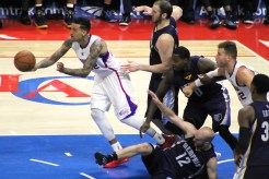 Matt Barnes leading the fastbreak against the Grizzlies. Photo Credit: Dennis J. Freeman/News4usonline.com