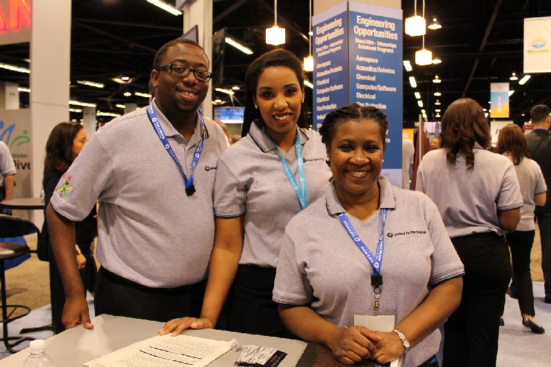 L'Wade Lewin, Brittany D. Wheeler, CV Operations Manufacturing Engineer, Diversity Council Chair, Dionne Henry, UTC Aerospace Systems. Photo Credit: Dennis J. Freeman/News4usonline.com