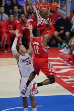 Dwight Howard goes strong to the basket against Blake Griffin and the Los Angeles Clippers in Game 6. Photo by Jevone Moore/News4usonline.com