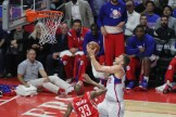 Blake Griffin goes up for two of his 28 points in Game 6 of the 2015 NBA playoff series between the Los Angeles Clippers and Houston Rockets. Photo by Jevone Moore/News4usonline.com