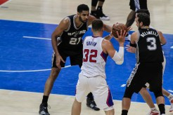 Blake Griffin (32) recorded a triple-double in Game 7 against Tim Duncan and the San Antonio Spurs. Photo Credit: Jevone Moore/News4usonline.com