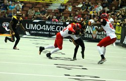 Jacksonville's defense was all over the KISS early in this game. Photo by Dennis J. Freeman/News4usonline.com