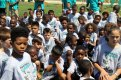 More than 800 youths attended the 7th Annual Marcedes Lewis Football Camp in Long Beach, California. The free football camp was held at Long Beach Poly High school in which Lewis is an alum. Photo by Dennis J. Freeman/News4usonline.com