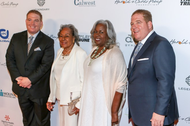 Widow Rachel Robinson, Sharon Robinson, David & Dana Pump. Photo by Jevone Moore