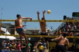 Phil Dalhausser drops the hammer at the 56th AVP Manhattan Beach Open Presented by Acer. Photo by Dennis J. Freeman