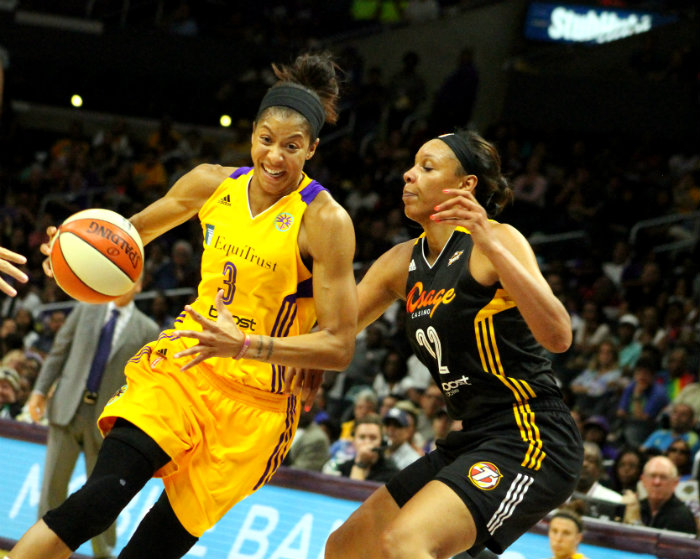 Los Angeles Sparks forward Candace Parker has stepped up her game since the WNBA All-Star game. Photo by Dennis J. Freeman/News4usonline.com