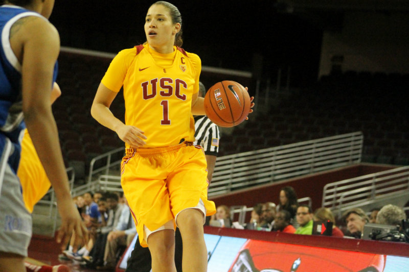 Jordan Adams pitched in 18 points and 14 rebounds in the Trojans's home win against Hope International. Photo by Dennis J. Freeman/News4usonline.com