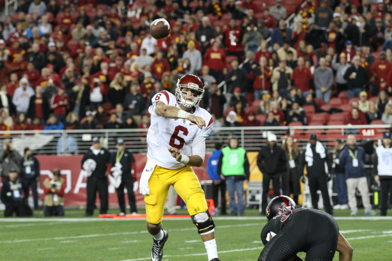 USC quarterback Cody Kessler doing his thing against Stanford during the Pac-12 Conference Championship game. Photo courtesy of Jevone Moore