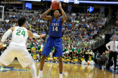 Duke's Brandon Ingram looking for someone to pass the ball to in the Sweet 16.
