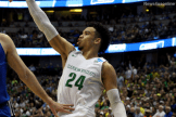 Oregon's Dillon Brooks goes for two of his 22 points against Duke in the Sweet 16.