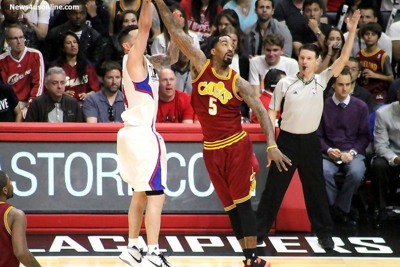 "Cleveland Cavaliers guard J. R. Smith helped shut down the ""Splash Brothers"" during this season's NBA Finals. Photo by Dennis J. Freeman/News4usonline.com"