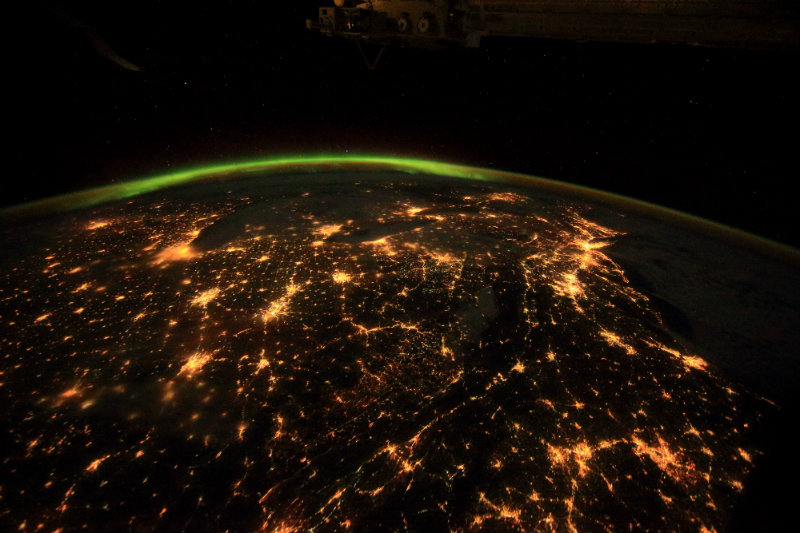 A scene from the IMAX® film A Beautiful Planet – The entire North East of Canada, the United States and beyond as seen from the International Space Station. © 2016 IMAX Corporation Photo courtesy of NASA