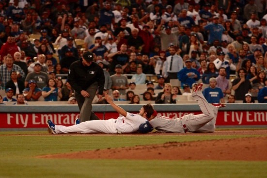 The Dodgers and Angels are playing at the same level as each other; the Dodgers are in second place in the NL West. The Angels are third in the AL West. Photo by Astrud Reed/News4usonline.com