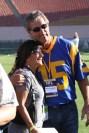 Vince Ferragamo hangs out with a fan. Photo by Astrud Reed/News4usonline