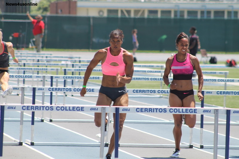 Virginia Crawford heads home in the women's 100 meters. Photo by Dennis J. Freeman/News4usonline.com