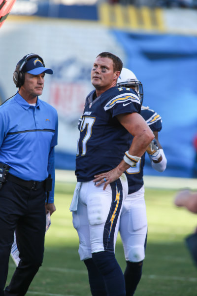 Quarterback Philip Rivers and the San Diego Chargers had a rough afternoon against the Tampa Bay Buccaneers. Photo by Jevone Moore/News4usonline.com