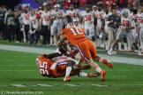 National champions Clemson against Ohio State in the PlayStation Fiesta Bowl. Photo by Dennis J. Freeman/News4usonline.com