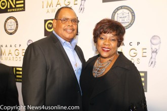 Actress Loretta Devine with her husband at the NAACP Image Awards Nominees Luncheon on Saturday, Jan. 28, 2017. Photo by Dennis J. Freeman/News4usonlin.com