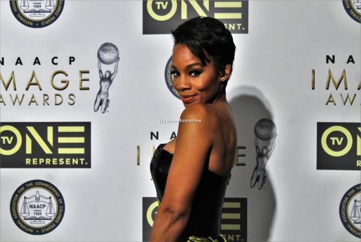 The lovely and talented Anika Noni Rose (The Quad) certainly turned more than a few heads at the 48th Annual NAACP Image Awards on Friday, Feb. 10, 2017. Photo by Dennis J. Freeman/News4usonline