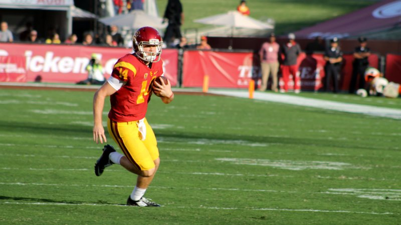 USC QB Sam Darnold is cool under pressure at Media Day