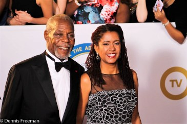Actor Danny Glover and wife Elaine Cavalleiro arrive for the 49th Annual NAACP Image Awards on Monday, Jan. 15, 2018. Photo by Dennis J. Freeman