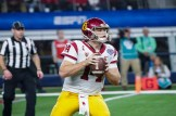 In his final college football game, USC quarterback Sam Darnold (14) had a rough outing against the Ohio State defense. Photo by Michael Lark for News4usonline