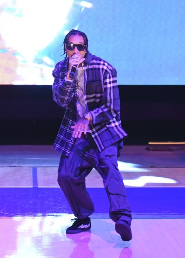 WESTWOOD, CA - JULY 17: Tyga performs at Monster Energy Outbreak Presents $50K Charity Challenge Celebrity Basketball Game at UCLA's Pauley Pavilion on July 17, 2018 in Westwood, California. (Photo by Vivien Killilea/Getty Images Idol Roc)