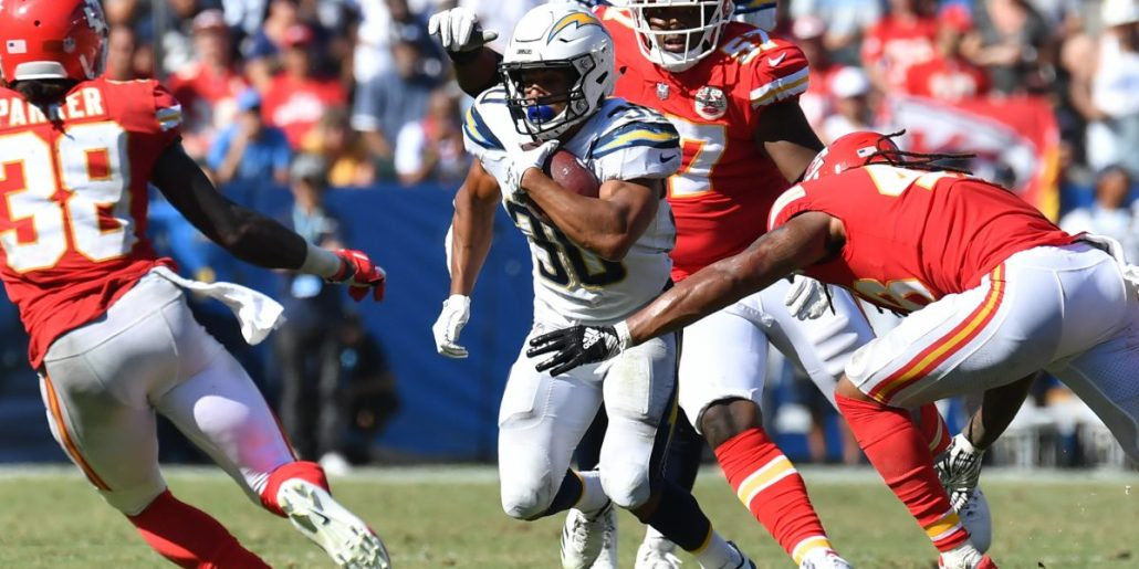Chargers versus Chiefs