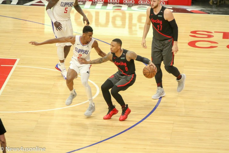Portland Trail Blazers versus Los Angeles Clippers
