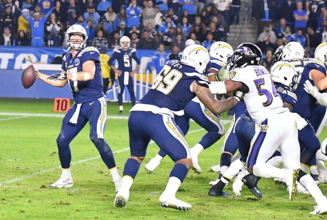 Chargers and the Ravens