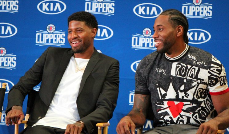 Kawhi Leonard and Paul George Press Conference