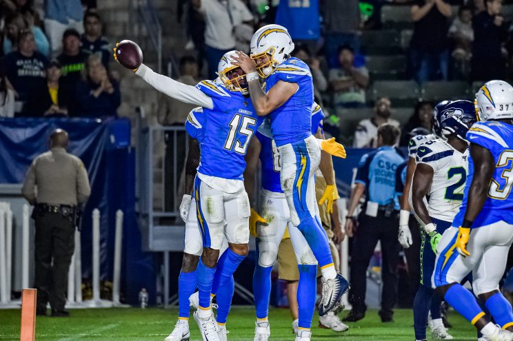 Chargers versus Seahawks in NFL preseason game
