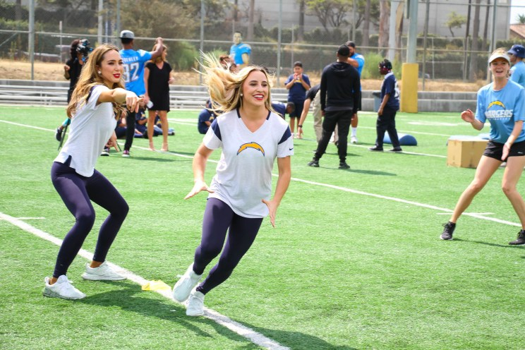 Los Angeles Chargers Play60 Blitz event in Inglewood, California