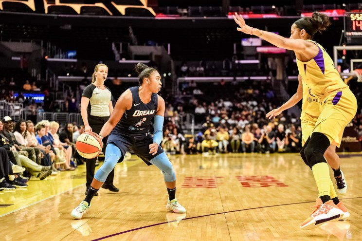 WNBA game between LA Sparks and Atlanta Dream
