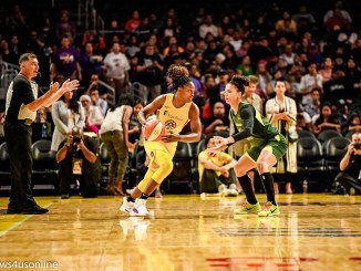 Los Angeles Sparks play the Seattle Storm in WNBA playoff action