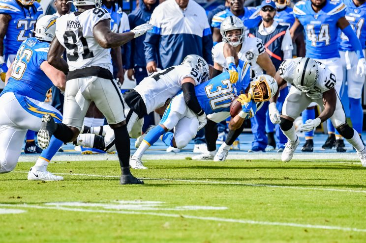 Chargers lose to Raiders