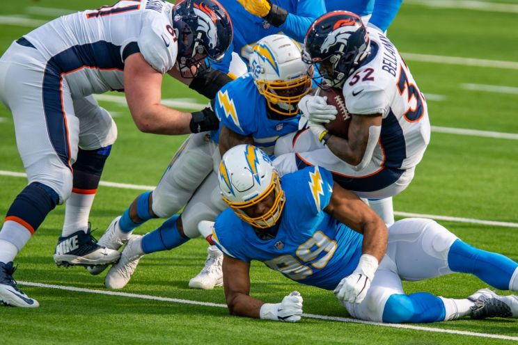 Los Angeles Chargers and Denver Broncos go to work