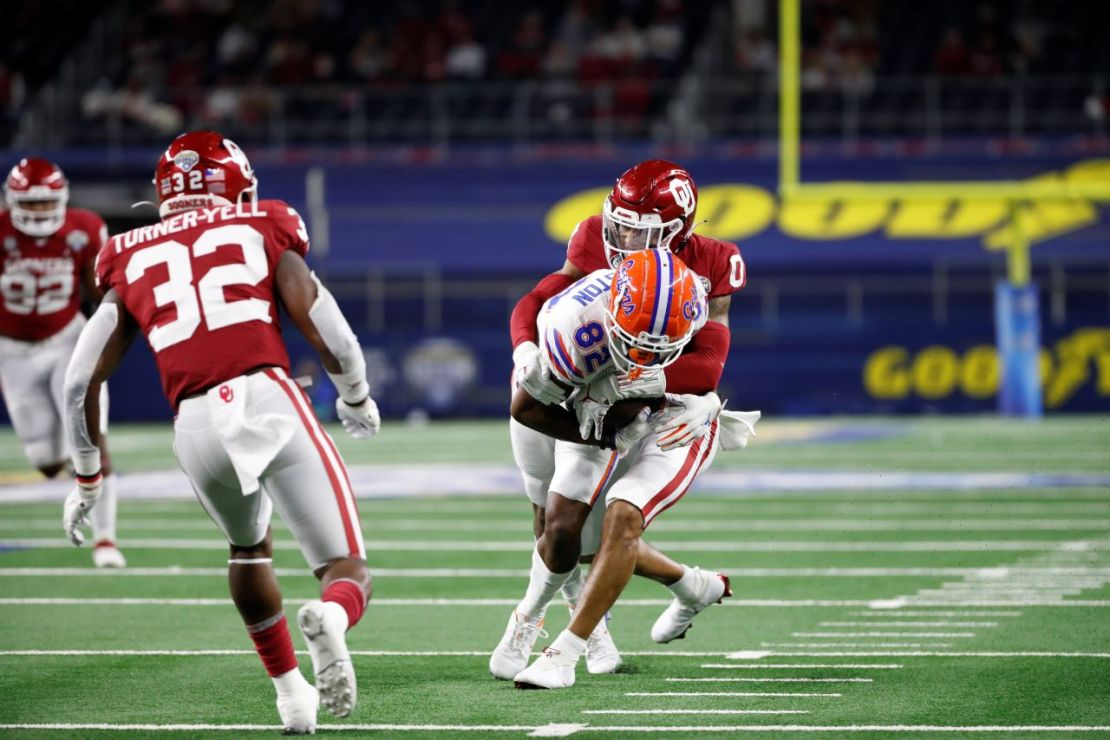 The Oklahoma Sooners defense put a lock on the Florida Gators' passing offense. The Sooners held Florida starting quarterback Kyle Trask to just 158 yards passing in a 55-20 win at the 2020 Cotton Bowl Classic. Courtesy photo