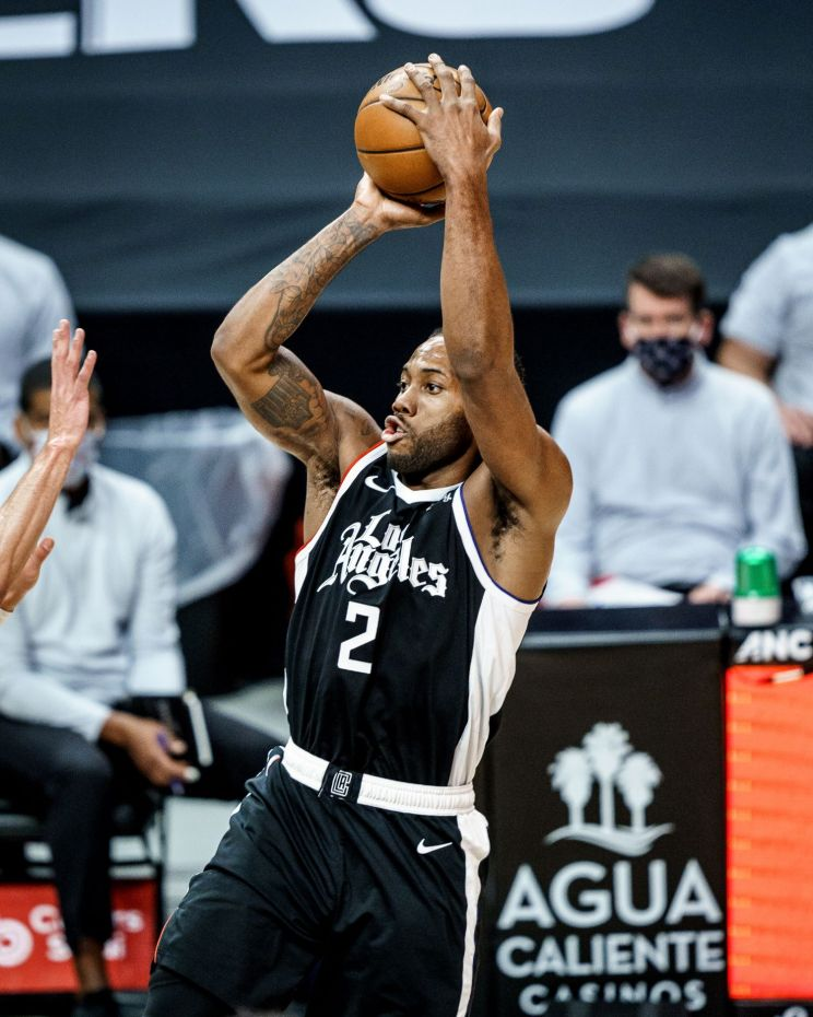 Kawhi Leonard scored 21 of his 35 points in the third quarter of the Los Angeles Clippers' 130-127 win against the Chicago Bulls on Sunday, Jan. 10, 2020. Photo credit: Los Angeles Clippers