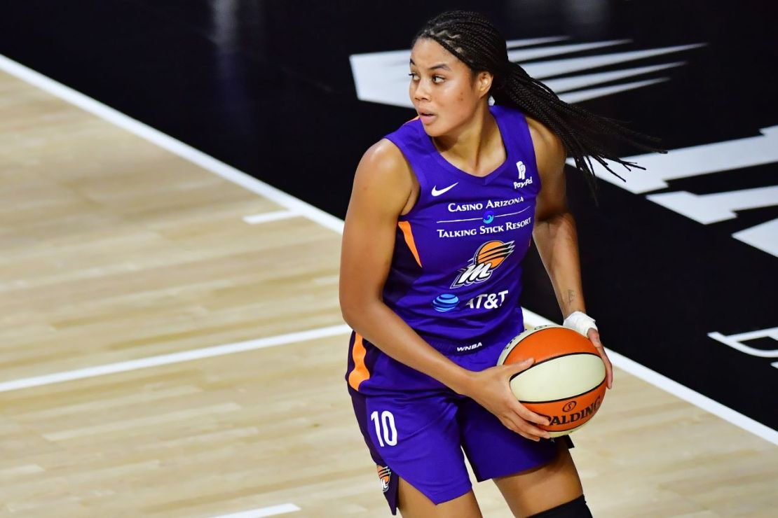Nia Coffey signed with the Los Angeles Sparks in March. Coffey, the No. 5 overall pick in the 2017 WNBA Draft, is the sister of Los Angeles Clippers guard Amir Coffey. Photo credit: Getty Images