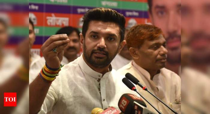 Chirag appeals for vote in support of BJP for a BJP-LJP govt in Bihar | Bihar Assembly Elections 2020 Election News
