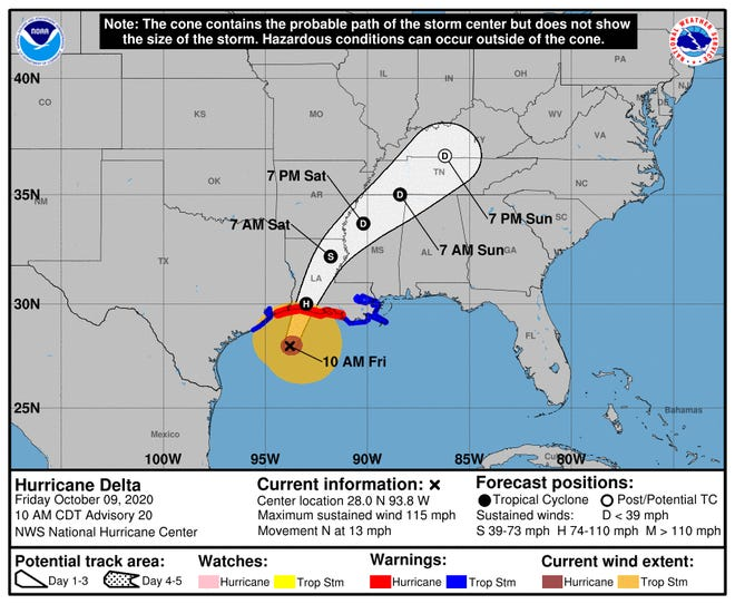 Hurricane Delta makes landfall in Louisiana on already battered coast; more than 300k power-outages reported