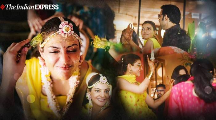 Kajal Aggarwal looks radiant at her haldi ceremony; see pics