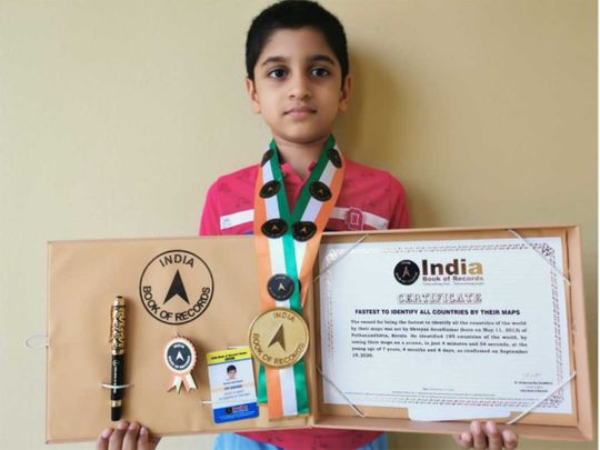 Kerala boy in UAE enters record book for fastest to recognise countries by looking at their maps