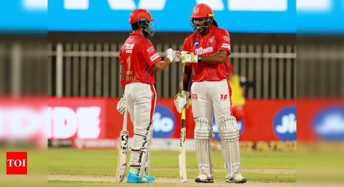 RCB vs KXIP: Kings XI Punjab finally find a way to win after Chris Gayle and KL Rahul's six-hitting competition   Cricket News