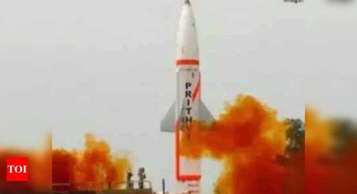 Successful night trial of nuclear-capable Prithvi-2 missile | India News