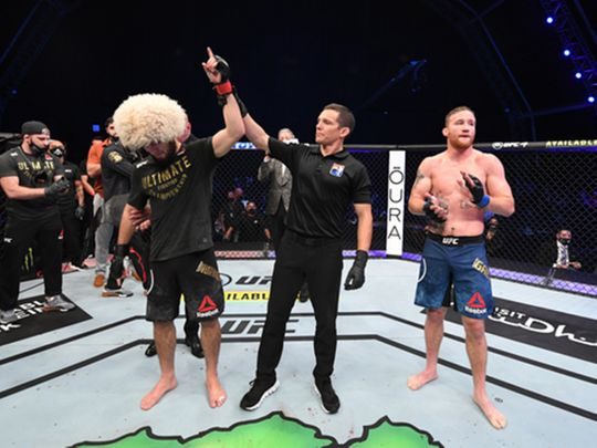 UFC 254: Khabib Nurmagomedov claims he did not want to break Justin Gaethje's arm in front of his parents